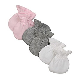 Burt's Bees Baby® 3-Pack Mittens in White/Pink