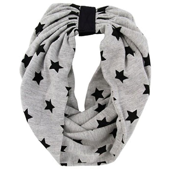 Alternate image 1 for Rising Star™ Infant/Toddler Stars Infinity Scarf in Grey