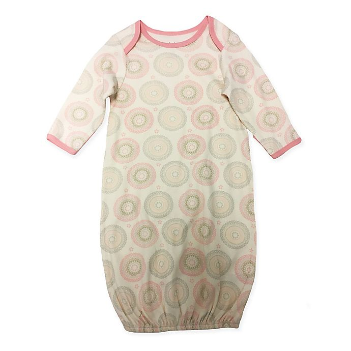 Alternate image 1 for Sterling Baby Pink Medallion Print One Size Gown in Ivory
