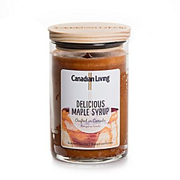 Canadian Living Delicious Maple Syrup 10 oz. Jar Candle