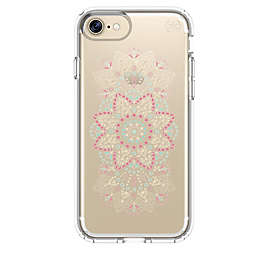speck® Presidio™ Case for iPhone® 7 in Clear with Pink Flower Print