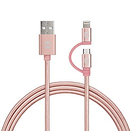 iHome® 6-Foot 2-in-1 Micro USB and Lightning Cable
