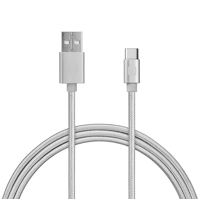 Alternate image 1 for iHome™ 6-Foot Type C USB Cable in Silver