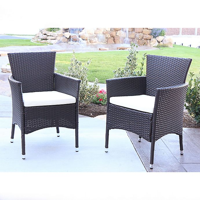 Phenomenal Forest Gate Angelo Home Baxtor Outdoor Patio Dining Chairs Uwap Interior Chair Design Uwaporg