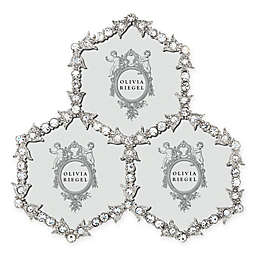 Olivia Riegel Luxembourg 3-Opening Picture Frame in Silver