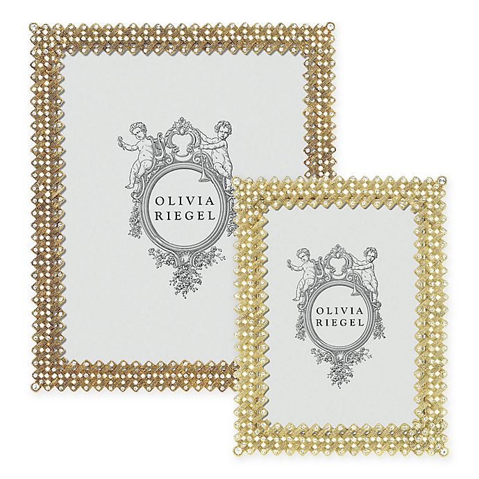 Alternate image 1 for Olivia Riegel Lattice Picture Frame in Gold