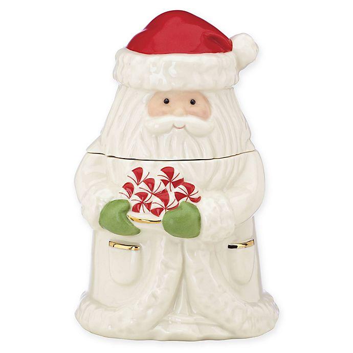 Alternate image 1 for Lenox® Peppermint Santa Treat Jar