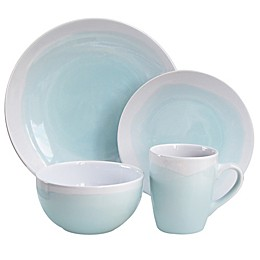 American Atelier Oasis 16-Piece Dinnerware Set in Mint/White