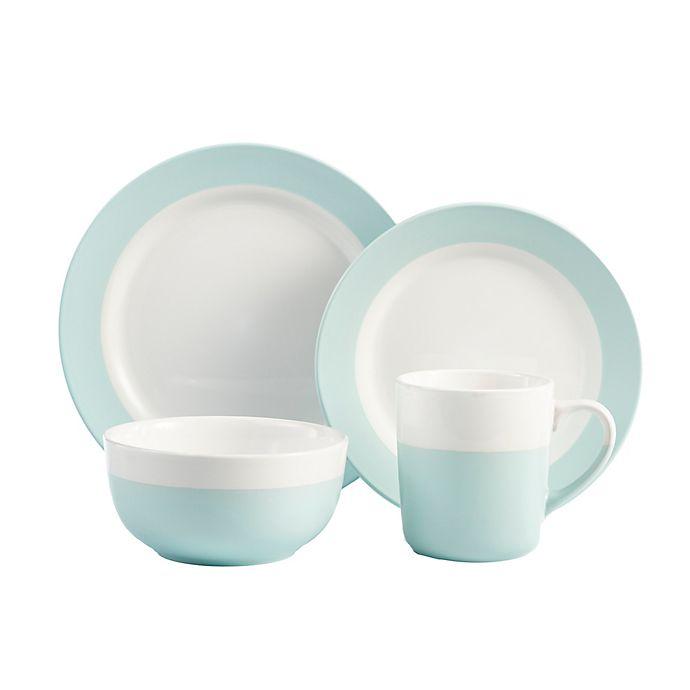 Alternate image 1 for American Atelier Serene 16-Piece Dinnerware Set in Green/White