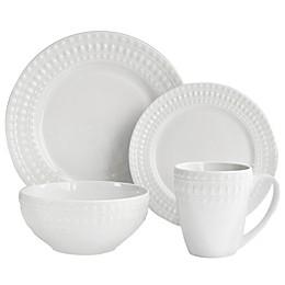 American Atelier Amelie Porcelain 16-Piece Dinnerware Set in White