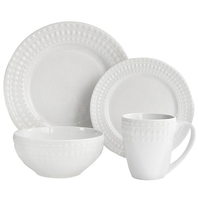 Alternate image 1 for American Atelier Amelie Porcelain 16-Piece Dinnerware Set in White