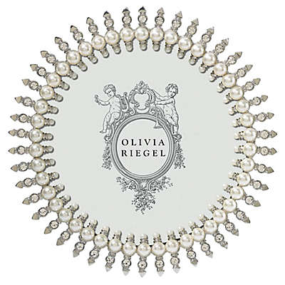 Olivia Riegel Pearl Jubilee 5-Inch Round Picture Frame in Silver
