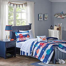 Mi Zone Sealife Comforter Set in Blue