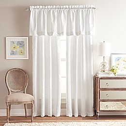 Gracie Rod Pocket Window Valance in White