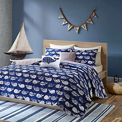 Urban Habitat Kids Moby Whale Printed Coverlet Bedding Set