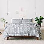 Deny Designs Holli Zollinger Mudcloth Linen King Duvet Cover in Grey