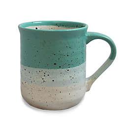 Prima Design Speckled Can Mug in Teal/Cream