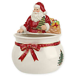 spode christmas tree santa candy dish - Christmas Candy Dishes