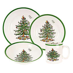 spode christmas tree 16 piece dinnerware set - Christmas China Sets