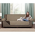 Maytex Reversible Microfiber Pet Loveseat Cover in Chocolate/Tan