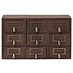 Kate and Laurel Wood Apothecary Drawer in Brown