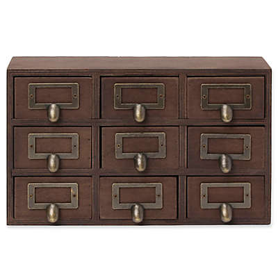 Kate and Laurel Wood Apothecary Drawer