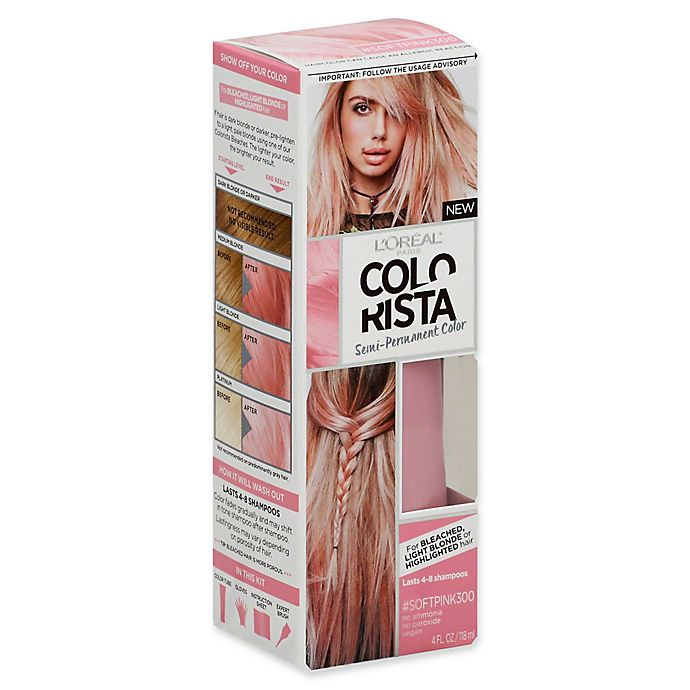 Alternate image 1 for L'Oréal® Colorista 4 fl. oz. Semi-Permanent Hair Color in Soft Pink
