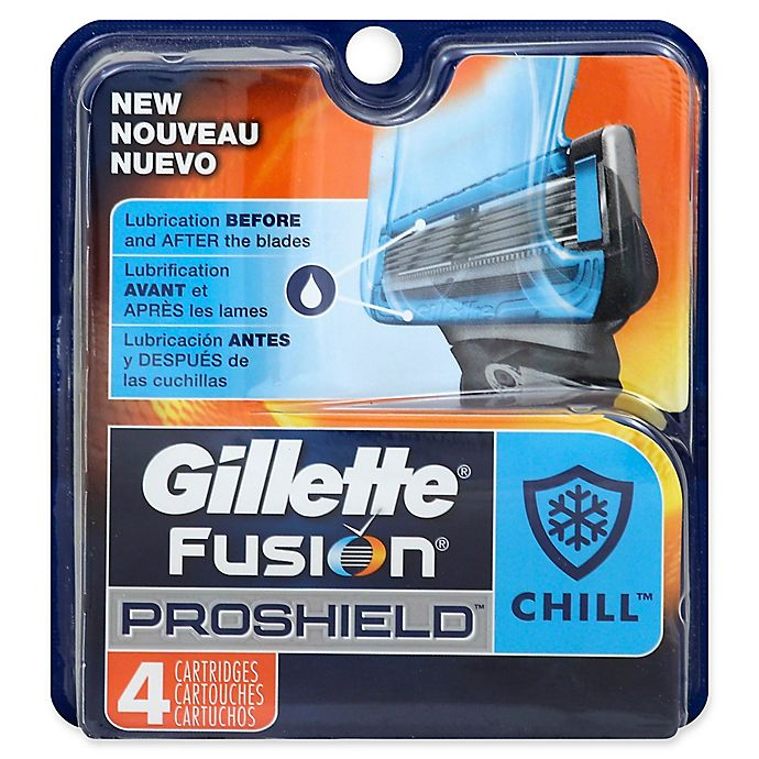 Alternate image 1 for Gillette® Fusion® ProShield™ Chill™ 4-Count Replacement Cartridges
