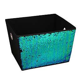 Home Basics® Large Sequined Storage Bin