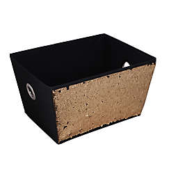 Home Basics® Large Sequined Storage Bin