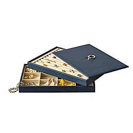 Quin Jewelry Trays with Lid in Navy
