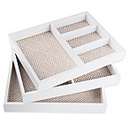 West Emory Jewelry Stacking Tray in White (Set of 3)