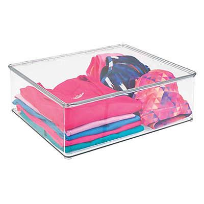 iDesign® Medium Closet Storage Stackable Box with Lid