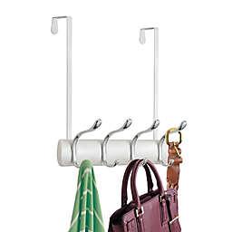 iDesign® 6-Hook Over-the-Door Rack in White/Chrome