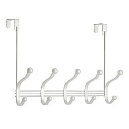 iDesign® 10-Hook Over-the-Door Rack in Pearl White