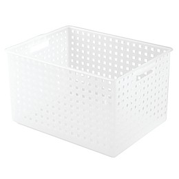iDesign® Large Storage Basket in Frost