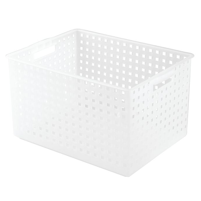 Alternate image 1 for iDesign® Large Storage Basket in Frost