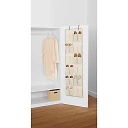 ORG 24-Pocket Over-the-Door Shoe Organizer in Natural