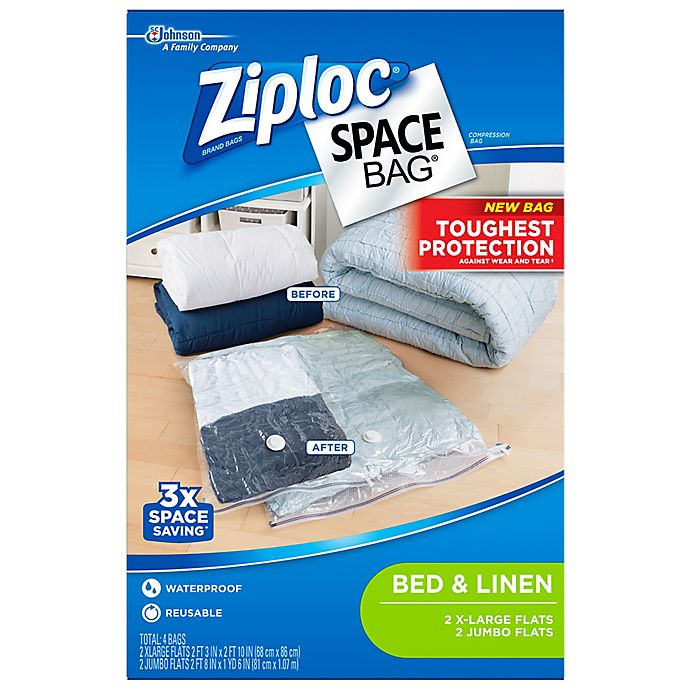 Alternate image 1 for Ziploc® Space Bag® 4-Count Flat Variety Pack in Clear