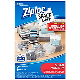 Ziploc® Spacebag® 6-Count Variety Pack in Clear