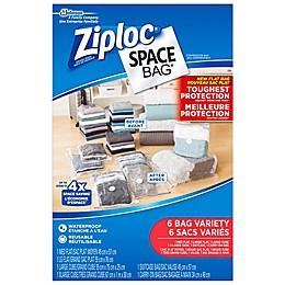 Ziploc® Spacebag® 6-Count Variety Pack in Clear