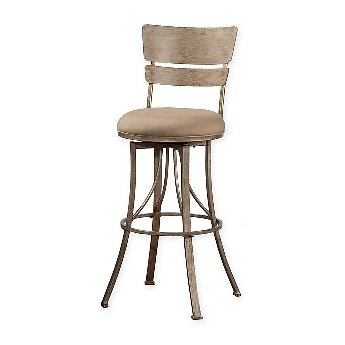 Alternate image 1 for Hillsdale Wakefield Indoor/Outdoor Stool in Sunbrella® Canvas Champagne