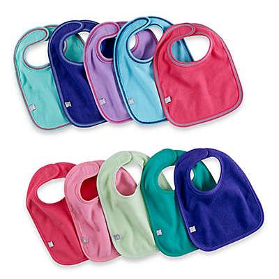 10-Pack Waterproof Multicolor Girl's Bibs