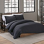 Garment Washed Solid King Duvet Cover Set in Iron