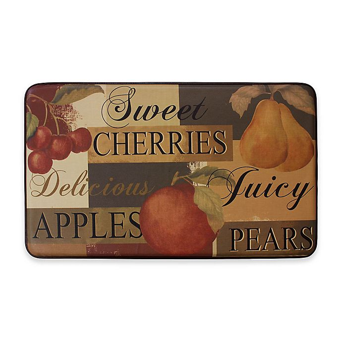 Alternate image 1 for Scrumptious Fruit 24-Inch x 36-Inch Anti-Fatigue Kitchen Mat
