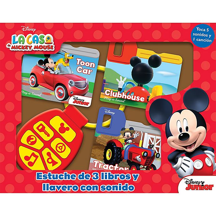 Alternate image 1 for Disney® Mickey Mouse Clubhouse Board Book Set with Sound Keychain (Spanish)