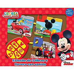 Disney® Mickey Mouse Clubhouse Board Book Set with Sound Keychain (Spanish)