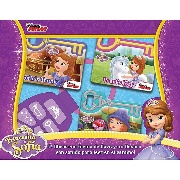 Alternate image 1 for Disney® Sofia the First Board Book Set with Sound Keychain (Spanish)