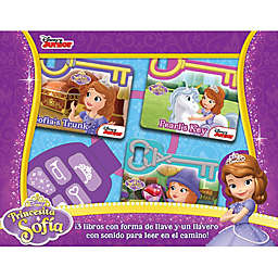 Disney® Sofia the First Board Book Set with Sound Keychain (Spanish)