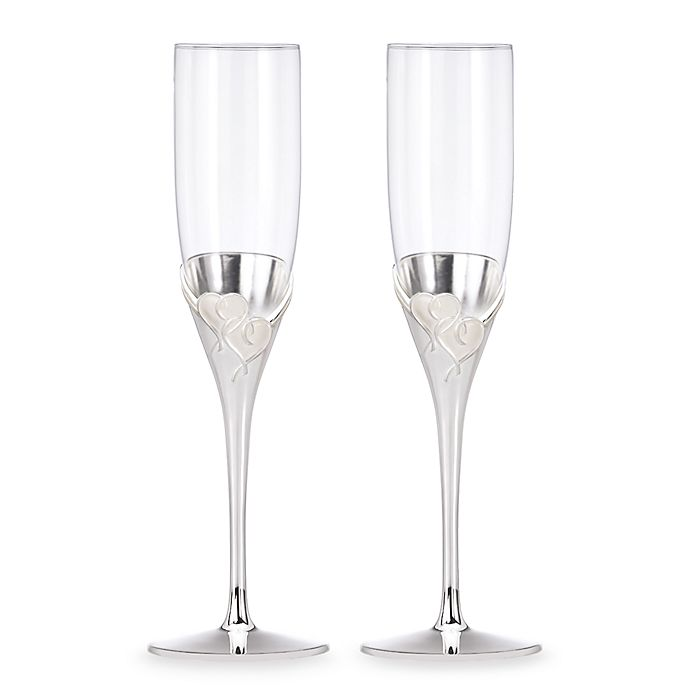 Alternate image 1 for Lenox® True Love Toasting Flutes (Set of 2)